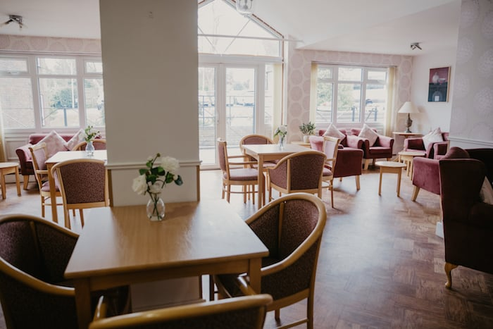 Dining area in care home Bexhill