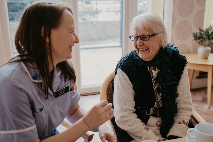 Resident & Care worker in Peterhouse care home